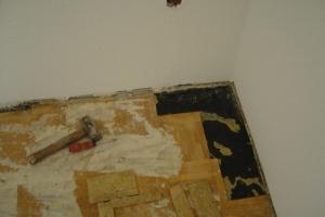 27 Mosaikparkett Eiche vor Reparatur